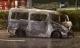 Ôtô 16 chỗ cuốn xe máy dân quân vào gầm, tông xe container rồi cháy trơ khung